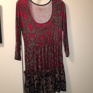 Soma Red Print Tunic Top
